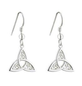 S/S Trinity Knot Drop Earrings