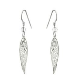 S/S Long Celtic Twist Drop Earrings