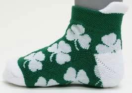 Shamrock Baby Socks