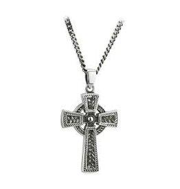 S/S Oxidised Celtic Cross Pendant
