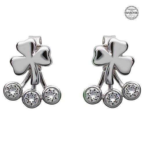 S/S Swarovski Shamrock Earrings
