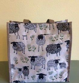 Tapestry Shopper Bag, Sheep & Daisy