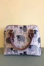 Tapestry Convertible Bag, Sheep & Daisy