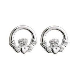 S/S Small Claddagh Stud Earrings