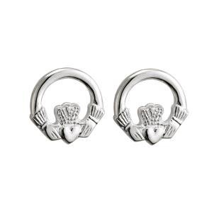 S/S Small Claddagh Stud Earrings