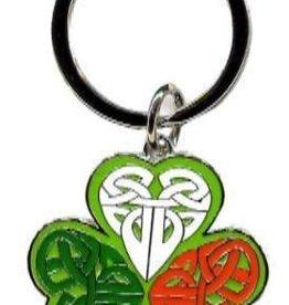 Celtic Shamrock Keyring