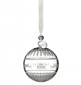 Waterford 2018 Ogham Love Ball Ornament