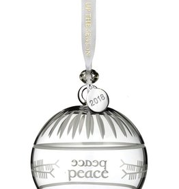 Waterford 2018 Ogham Peace Ball Ornament