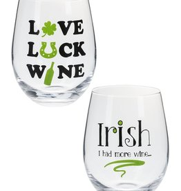 Ganz USA LLC Irish Stemless Wine Glass