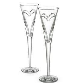 Waterford Wishes, Love & Romance Flutes, Set of 2