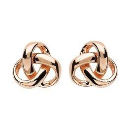 S/S Rose Gold Trinity Stud Earrings