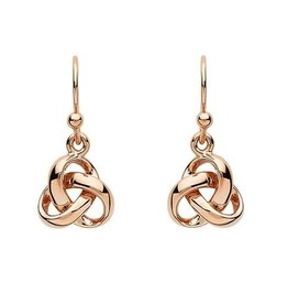 S/S Rose Gold Trinity Drop Earrings