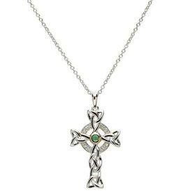 S/S Diamond/Green Celtic Cross