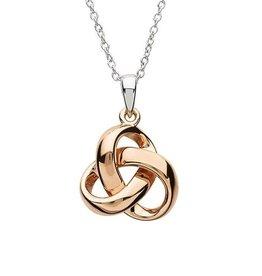 S/S Rose Gold Trinity Knot Pendant
