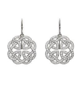 S/S Swarovski Celtic Earrings