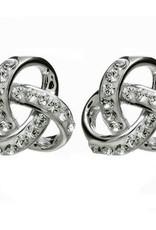 S/S Swarovski Trinity Knot Earrings
