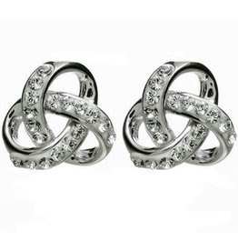 S/S Swarovski Trinity Knot Earrings