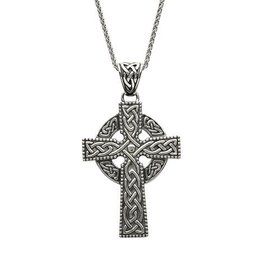 S/S Large Celtic Cross Necklace
