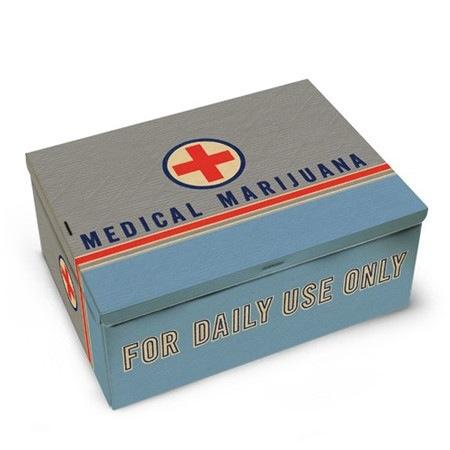 Novelty Medical Marijuana Tin Cigar Box