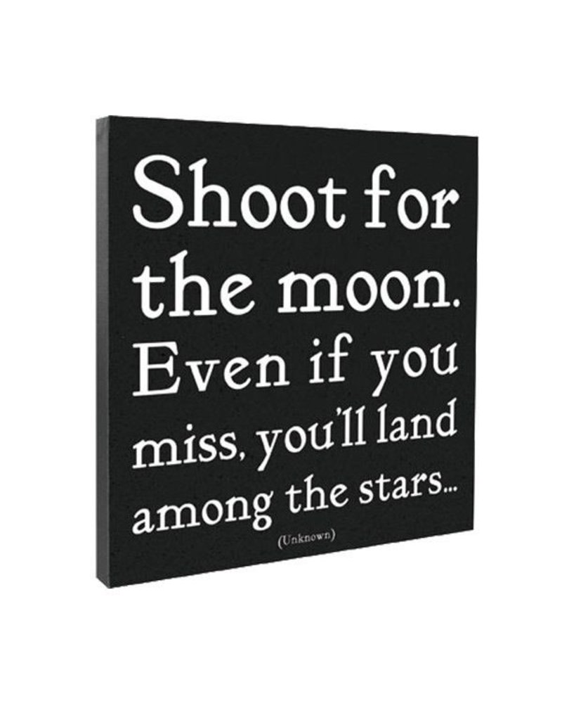 Quotable Cards Quotable Canvas 12x12-Shoot for the Moon...