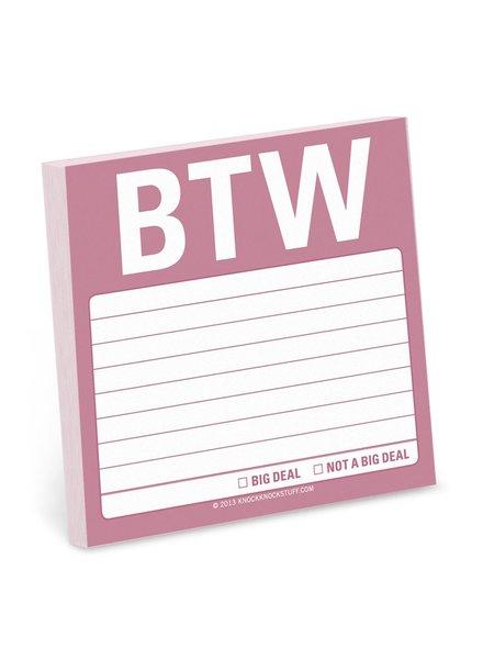 BTW Sticky Note Pad