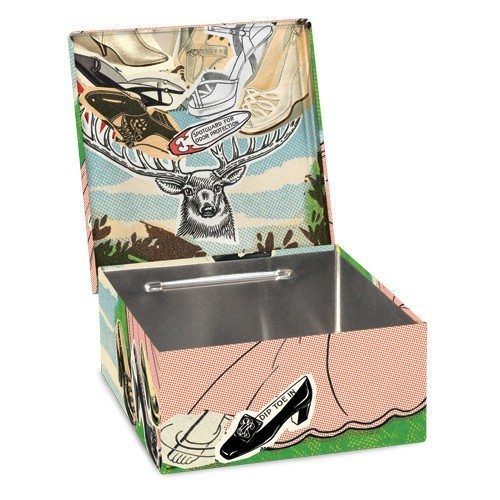 Novelty Shoe Whore Petite Tin Cigar Box
