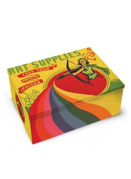 Novelty Art Supplies Tin Cigar Box