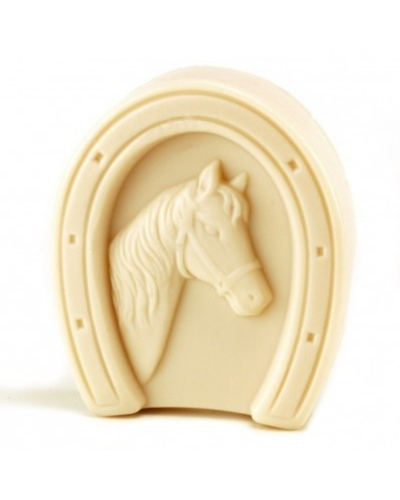 "European Soaps Horseshoe Puck of ""Lucky"" Almond Soap, 75g"