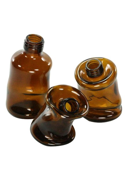 FOUND - Slumped Glass Bottle - Lrg - Assorted Brown