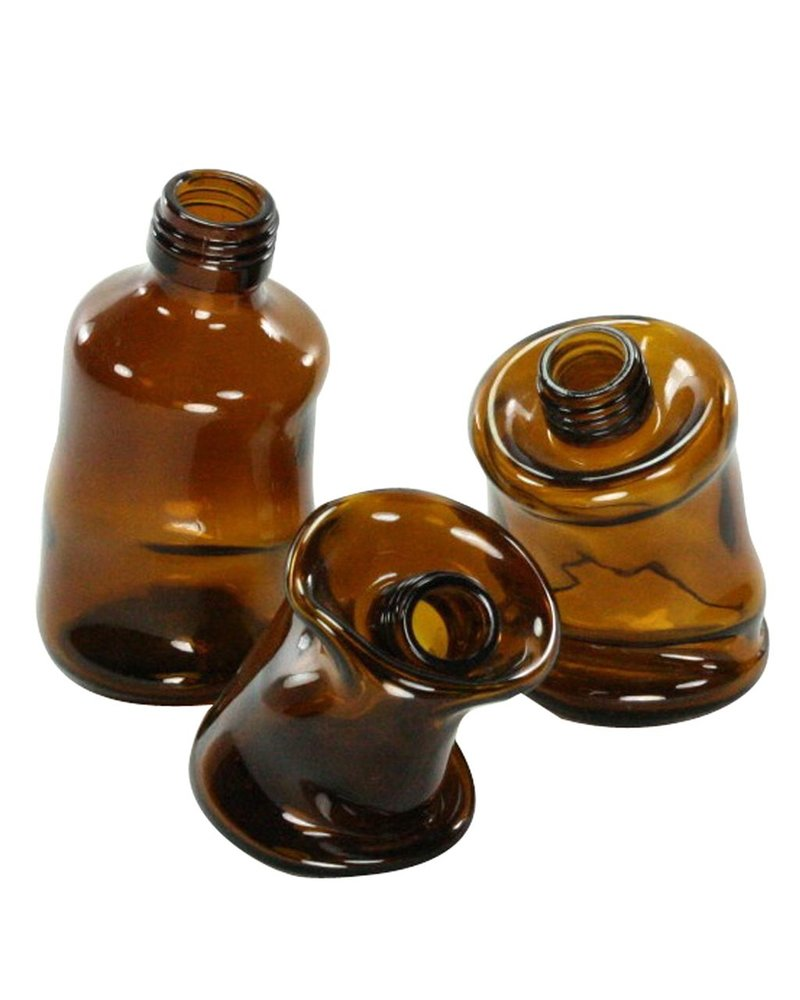 FOUND - Slumped Glass Bottle - Lrg - Assorted Brown