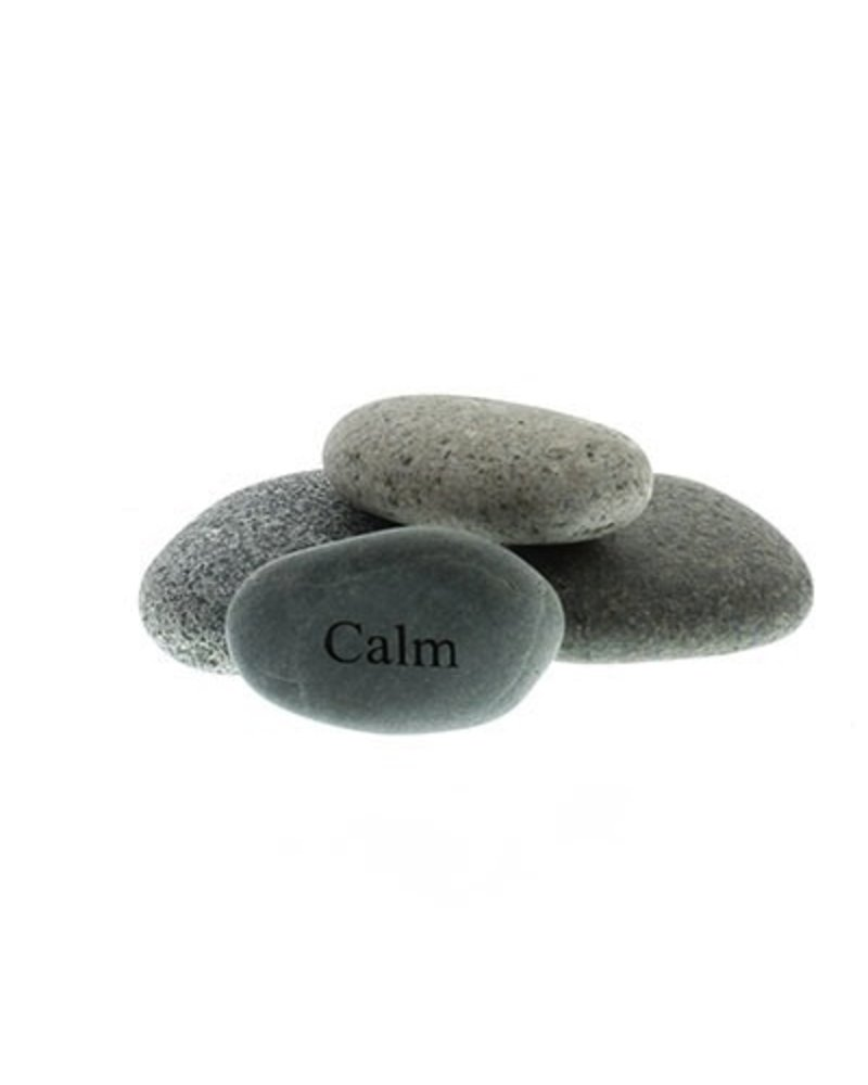 Garden Age Supply Calm - Mini Engraved Pocket Rocks 2-4in