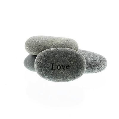 Garden Age Supply Love - Mini Engraved Pocket Rocks 2-4in