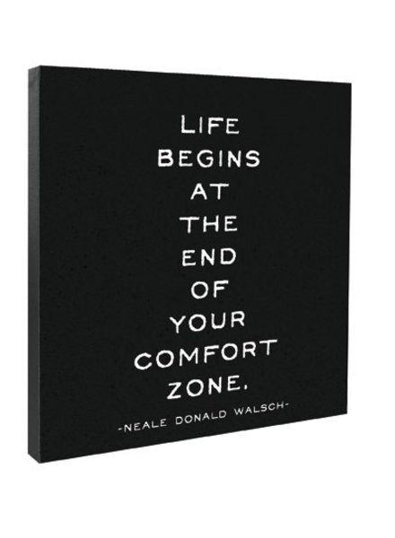 Quotable Cards Quotable Canvas 12x12-Life Begins At The End...