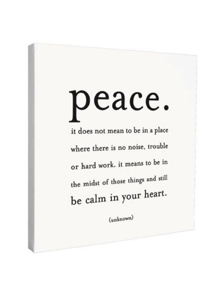 Quotable Cards Quotable Canvas 12x12-Peace...