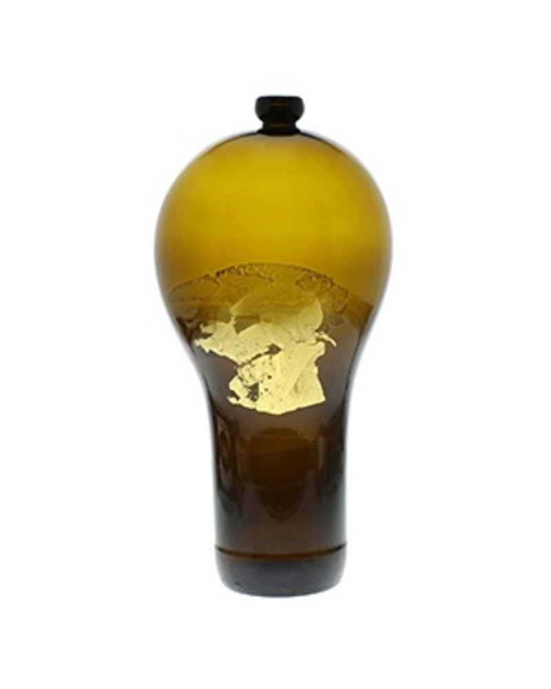 Nanda Soderberg 24K Beer Bottle Brown Vase Lrg