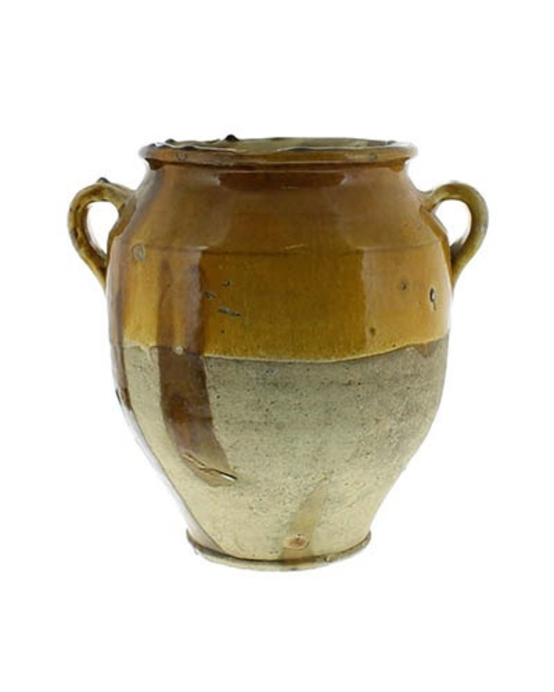 Yellow Confit Olive Jar Pot -Lrg - AREOhome