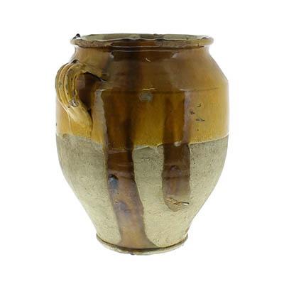 Yellow Confit Olive Jar Pot -Lrg