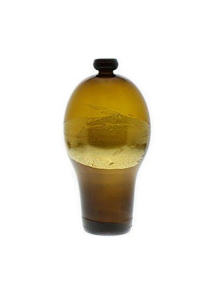 Nanda Soderberg 24K Beer Bottle Brown Vase Sm