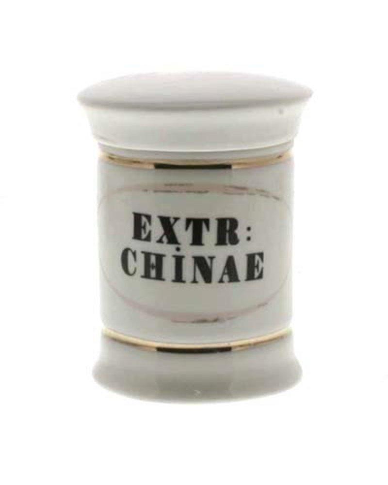 Extr: Chinae Sm Ceramic Apothecary Jar