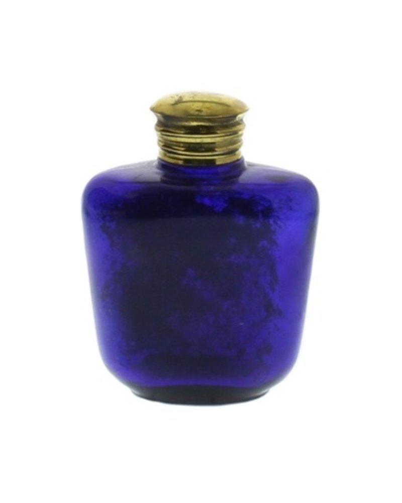Glass Bottle Cobalt Blue No Neck - Flea Market Find