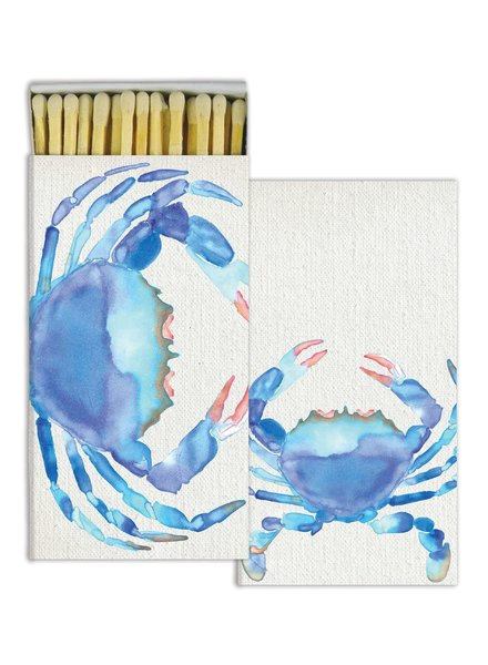 HomArt Watercolor Crab HomArt Matches - Set of 3 Boxes