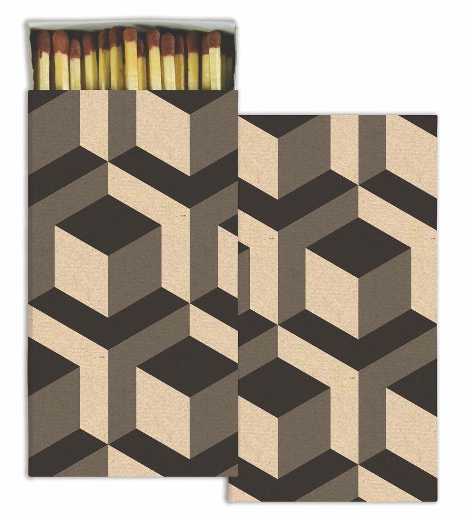 HomArt Dimensional Rhombus HomArt Matches - Set of 3 Boxes