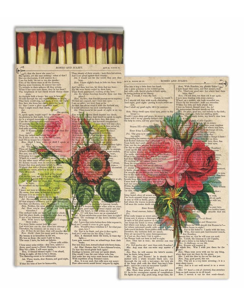 HomArt Romantic Roses HomArt Floral Matches - Set of 3 Boxes