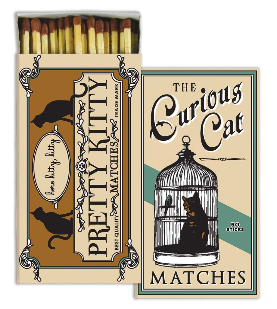 HomArt Curious Cat HomArt Pet Matches - Set of 3 Boxes