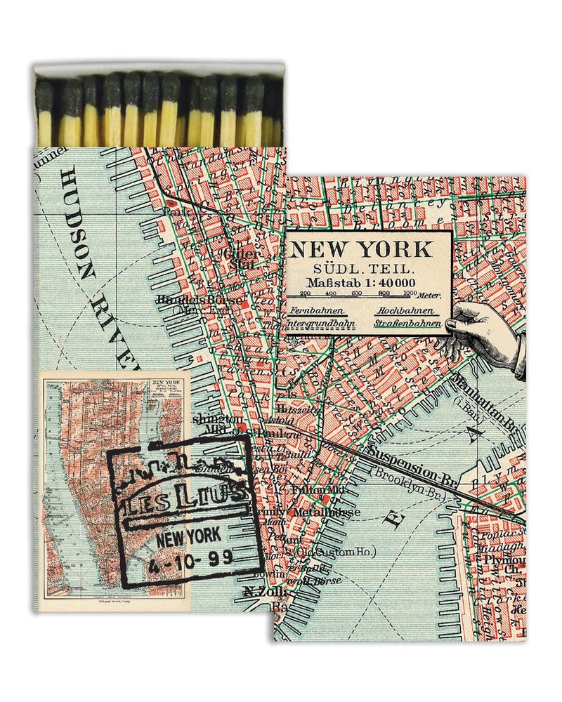 HomArt New York Map HomArt Matches - Set of 3 Boxes