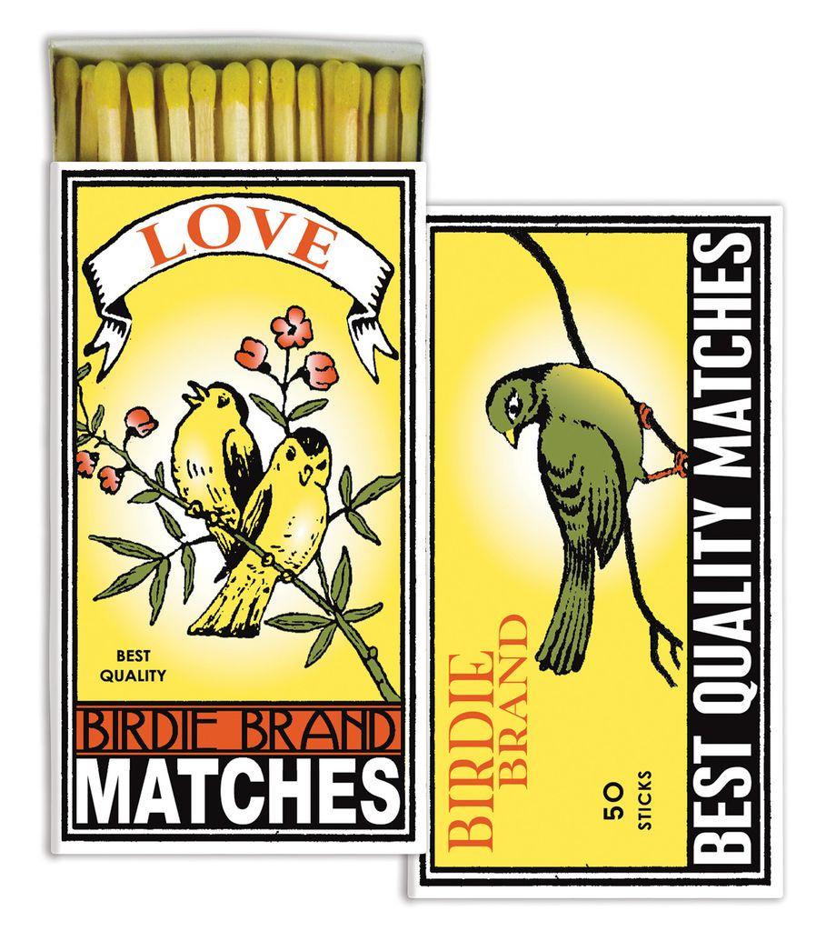 HomArt Birdie Brand HomArt Matches - Set of 3 Boxes