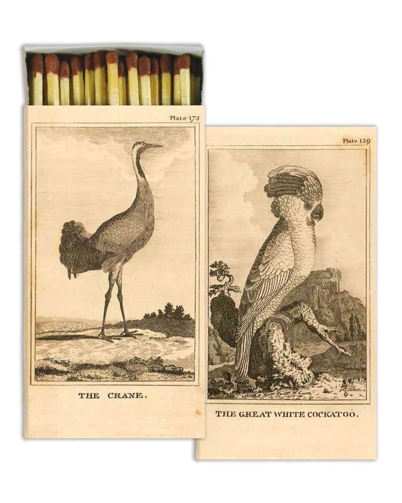 HomArt Cockatoo and Crane HomArt Bird Matches - Set of 3 Boxes