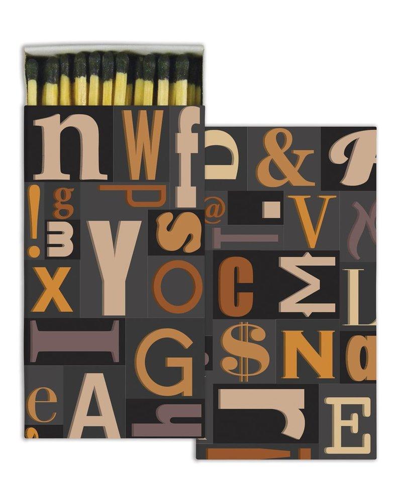 HomArt Typeset HomArt Matches - Set of 3 Boxes