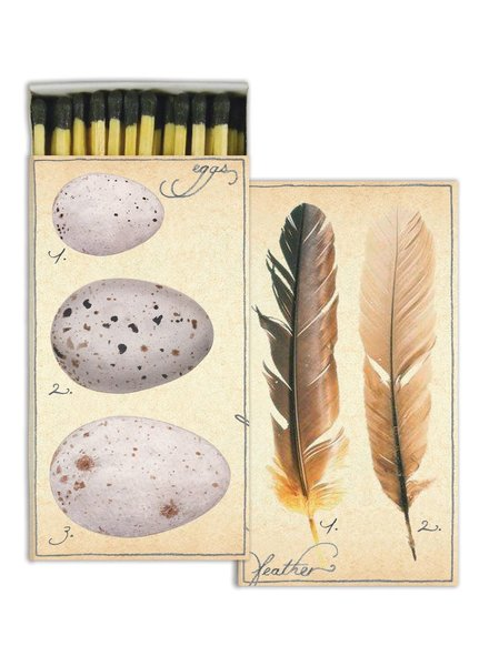HomArt Fine Feathers HomArt Matches - Set of 3 Boxes