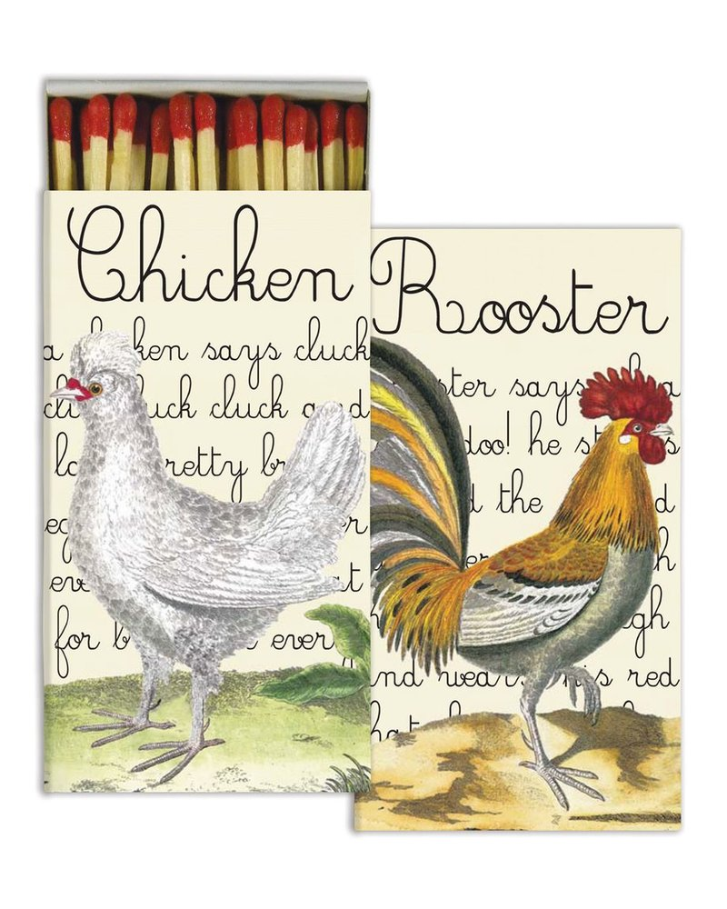 HomArt Chicken and Rooster HomArt Farm Matches - Set of 3 Boxes
